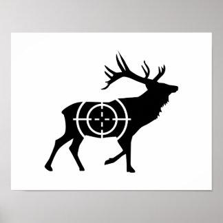 Cazador de los retículos de los ciervos posters