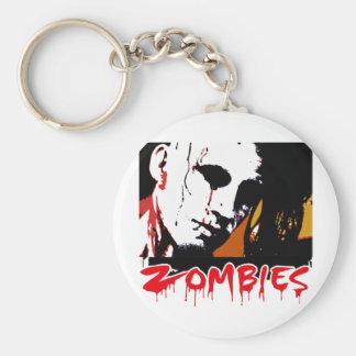 Cazador de los zombis llavero redondo tipo pin