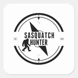 Cazador de Sasquatch Calcomanías Cuadradas