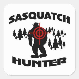 Cazador de Sasquatch Calcomanías Cuadradas Personalizadas