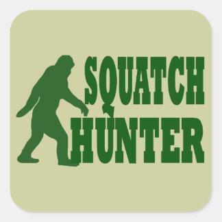 Cazador de Squatch Colcomanias Cuadradas