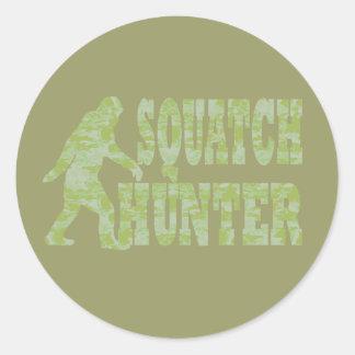 Cazador de Squatch en camuflaje Etiqueta
