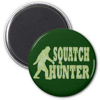 Cazador de Squatch en camuflaje Imán Redondo 5 Cm