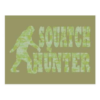 Cazador de Squatch en camuflaje Postal