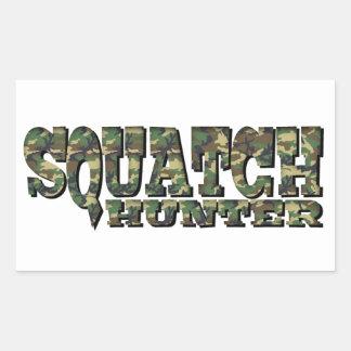Cazador de Squatch - modelo de Camo Pegatina