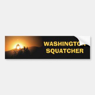 Cazador de Washington Squatcher Bigfoot Pegatina Para Auto