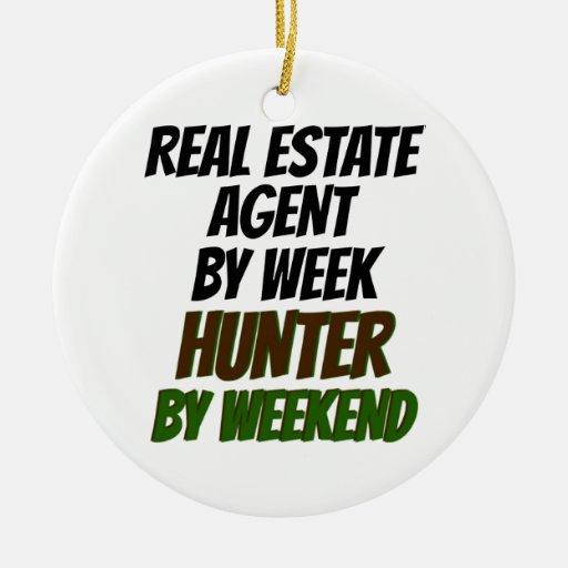 Cazador del agente inmobiliario ornamento para reyes magos