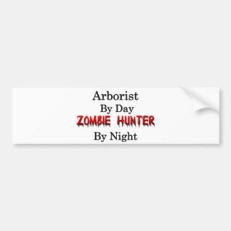 Cazador del arborista/del zombi pegatina para auto