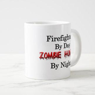 Cazador del bombero/del zombi taza de café gigante