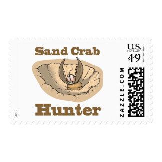 cazador del cangrejo de la arena estampillas