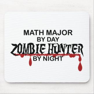 Cazador del comandante de matemáticas zombi tapete de ratón