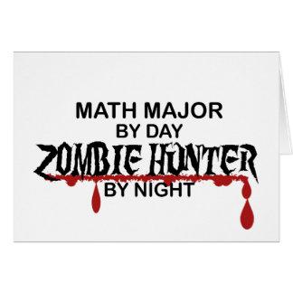 Cazador del comandante de matemáticas zombi tarjeta de felicitación