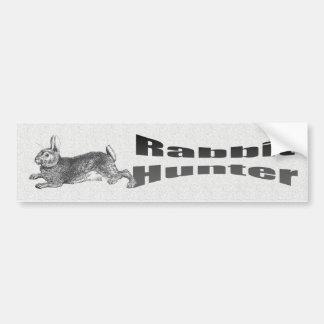 Cazador del conejo pegatina de parachoque