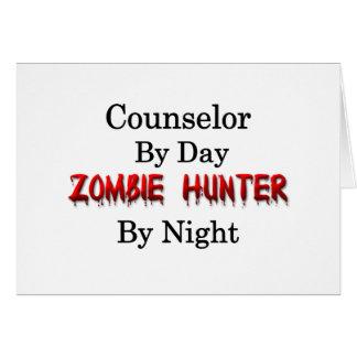 Cazador del consejero/del zombi tarjeta de felicitación