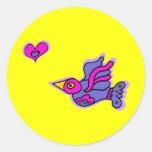 Cazador del corazón etiqueta redonda