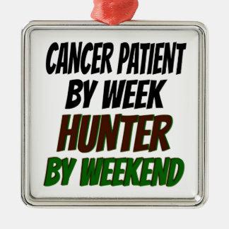 Cazador del enfermo de cáncer ornaments para arbol de navidad