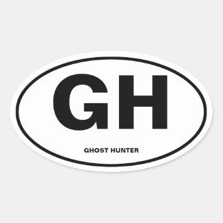 Cazador del fantasma pegatina ovalada