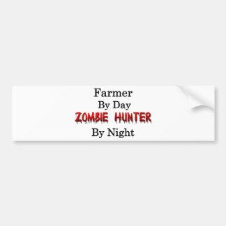 Cazador del granjero/del zombi pegatina para auto