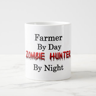 Cazador del granjero/del zombi taza de café gigante