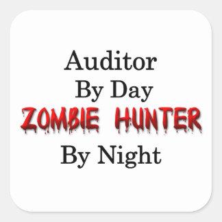 Cazador del interventor/del zombi pegatina cuadrada
