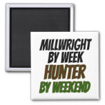 Cazador del Millwright Imán De Nevera