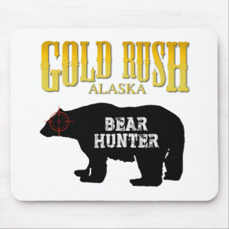 Cazador del oso de la fiebre del oro tapete de ratones