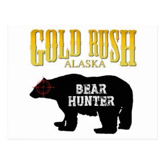 Cazador del oso de la fiebre del oro tarjeta postal