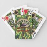 Cazador del pato baraja cartas de poker
