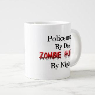 Cazador del policía/del zombi taza de café grande