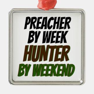 Cazador del predicador adorno de navidad
