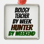 Cazador del profesor de biología ornamentos de navidad
