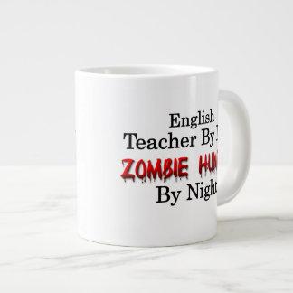 Cazador del profesor de inglés/del zombi taza de café grande