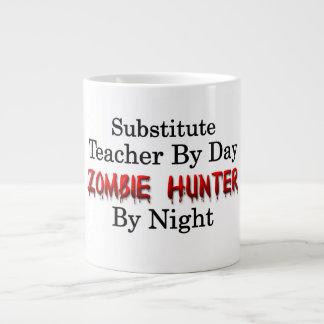 Cazador del profesor sustituto/del zombi taza de café grande