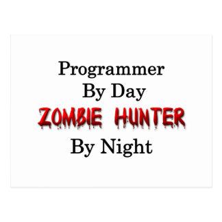 Cazador del programador/del zombi postales