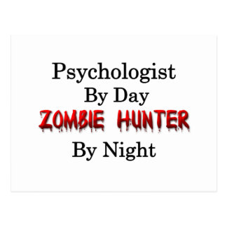 Cazador del psicólogo/del zombi tarjeta postal