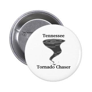 Cazador del tornado de Tennessee - botón Pin Redondo De 2 Pulgadas
