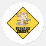 Cazador del tornado etiqueta