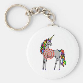 Cazador del unicornio llavero redondo tipo pin