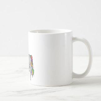 Cazador del unicornio taza de café