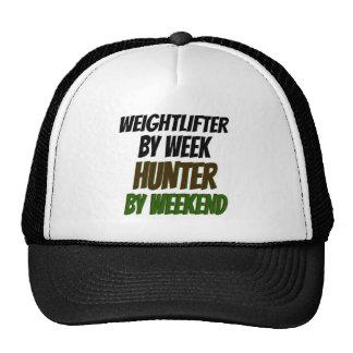 Cazador del Weightlifter Gorros Bordados