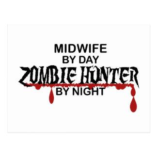 Cazador del zombi de la partera postales