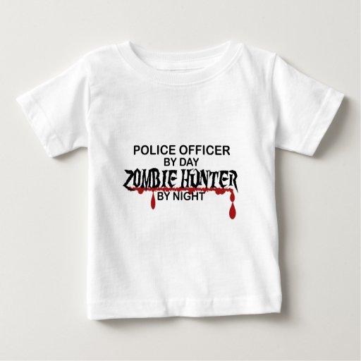 Cazador del zombi de la policía remeras
