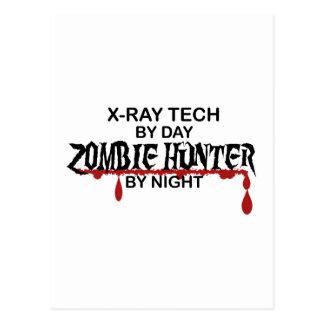 Cazador del zombi de la radiografía postales