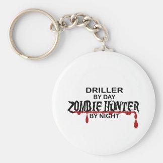 Cazador del zombi de la taladradora llaveros