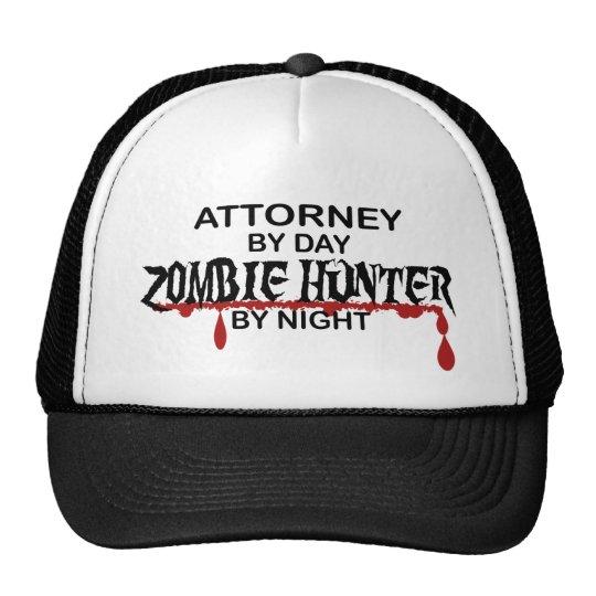 Cazador del zombi del abogado gorro