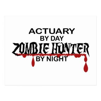 Cazador del zombi del actuario por noche postal