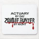 Cazador del zombi del actuario por noche tapete de ratones