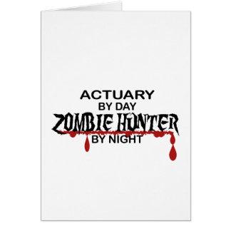 Cazador del zombi del actuario por noche tarjeta