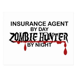 Cazador del zombi del agente de seguro tarjetas postales