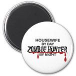 Cazador del zombi del ama de casa imanes de nevera